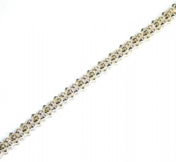 6mm Silver colour reticulated chain -- 1meter - S.B - 3022005